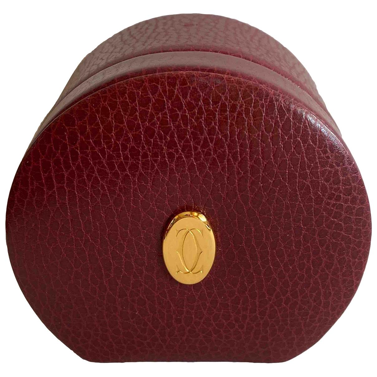 Cartier - Petite maroquinerie   pour femme en cuir - bordeaux