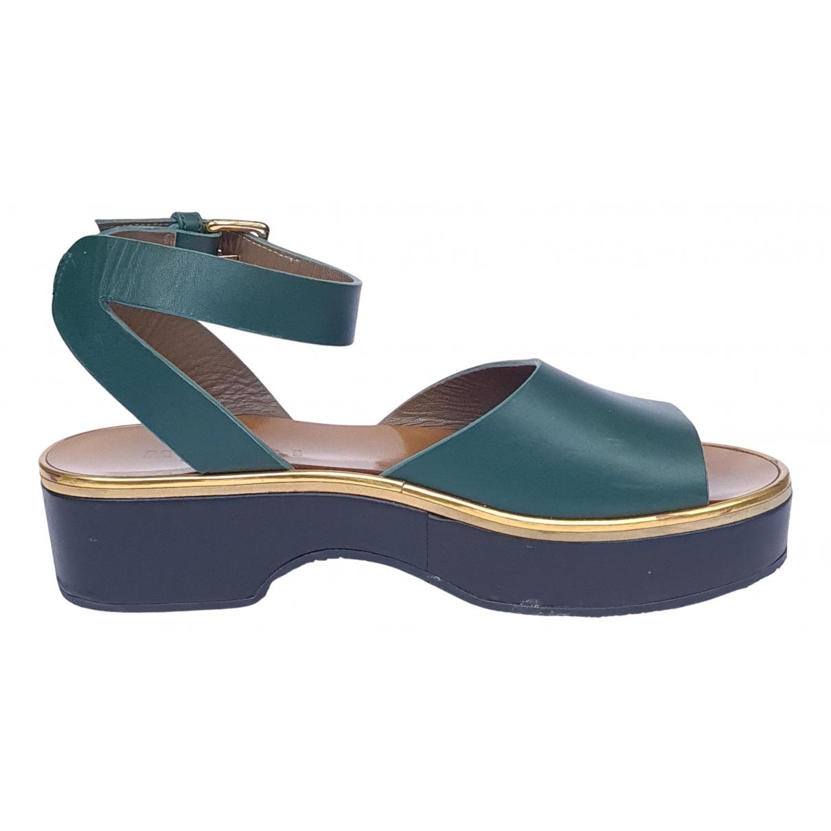 Marni \N Sandalen in  Gruen Leder