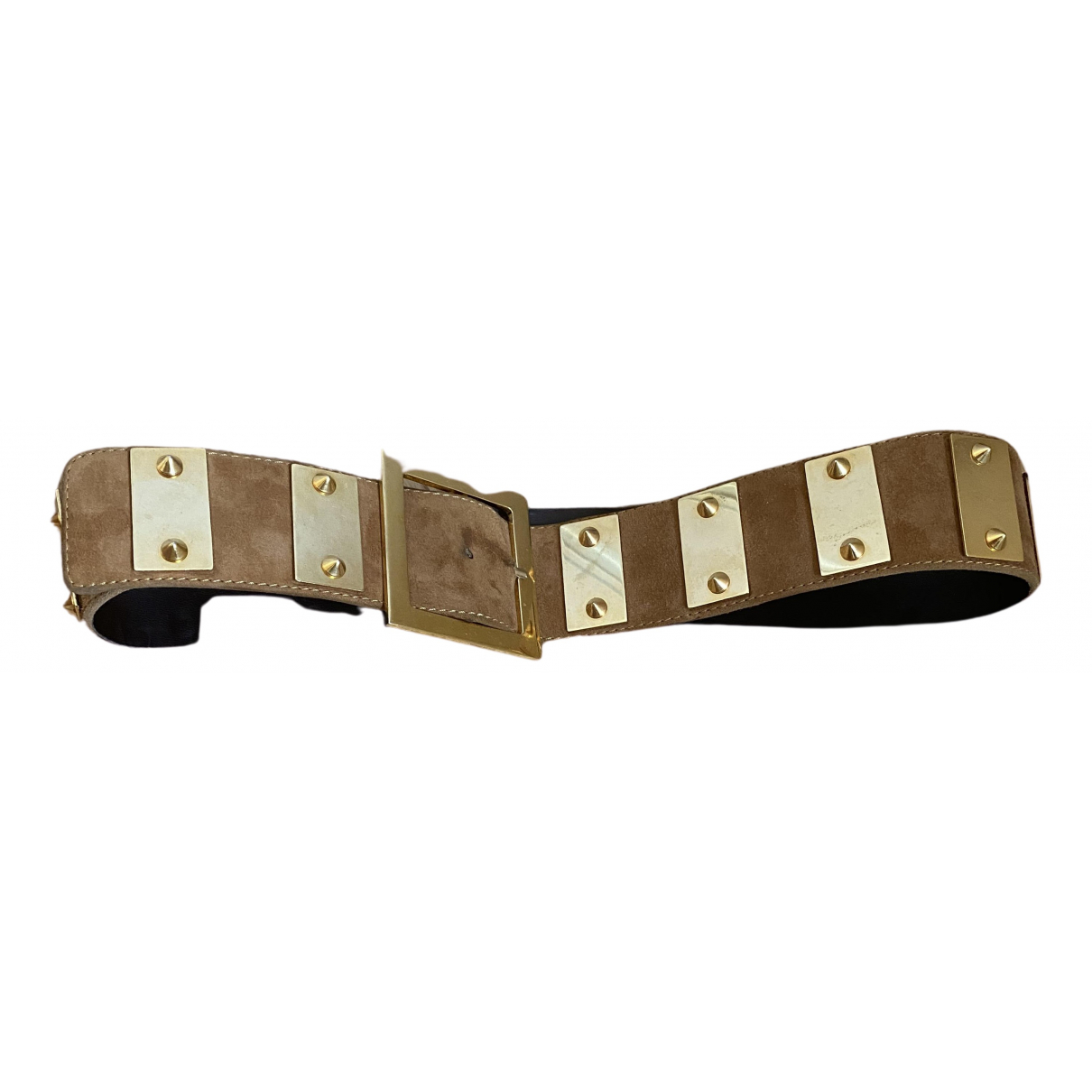 Non Signé / Unsigned \N Brown Suede belt for Women XS International