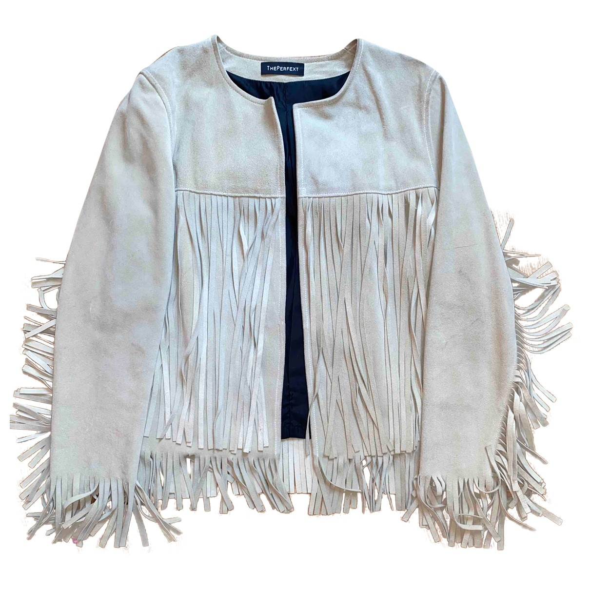 Non Signé / Unsigned \N Beige Suede jacket for Women S International