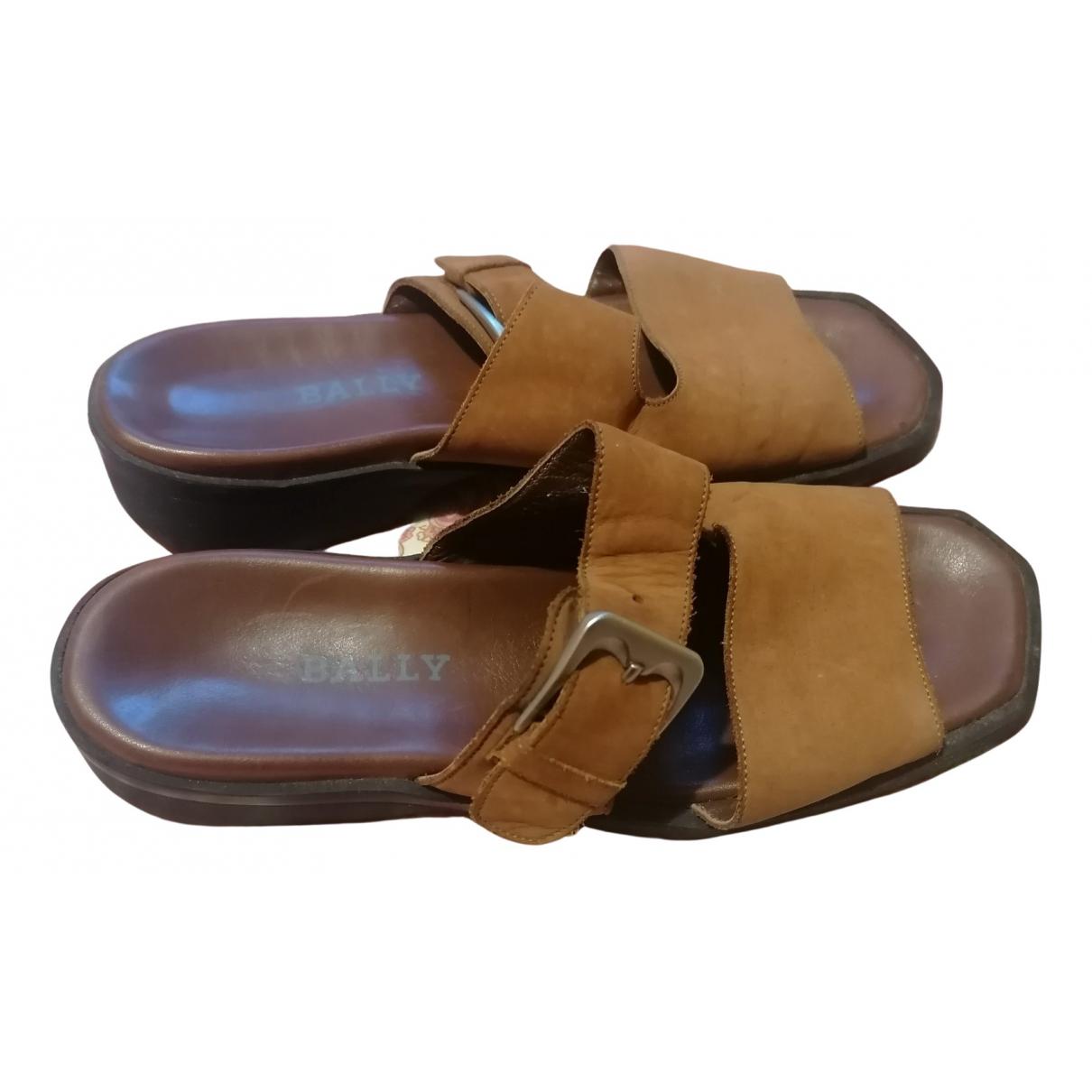 Bally - Sandales   pour femme en cuir - camel