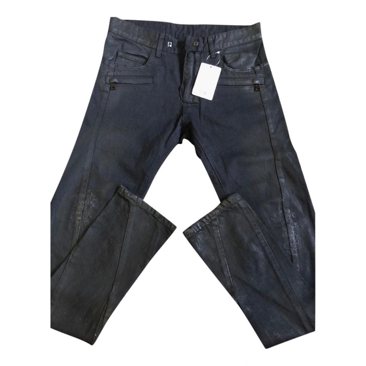 Balmain \N Black Cotton Jeans for Men 28 US