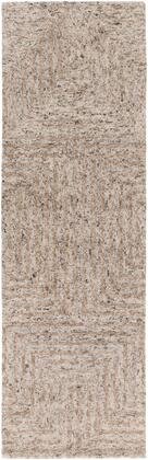 Falcon FLC-8000 2 x 3 Rectangle Modern Rug in Ivory  Taupe  Dark