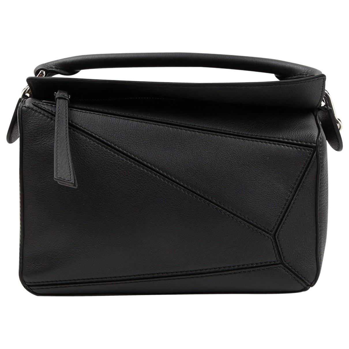 Loewe Puzzle  Handtasche in  Schwarz Leder