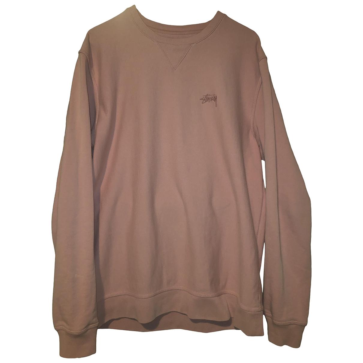 Stussy \N Pullover.Westen.Sweatshirts  in  Rosa Baumwolle