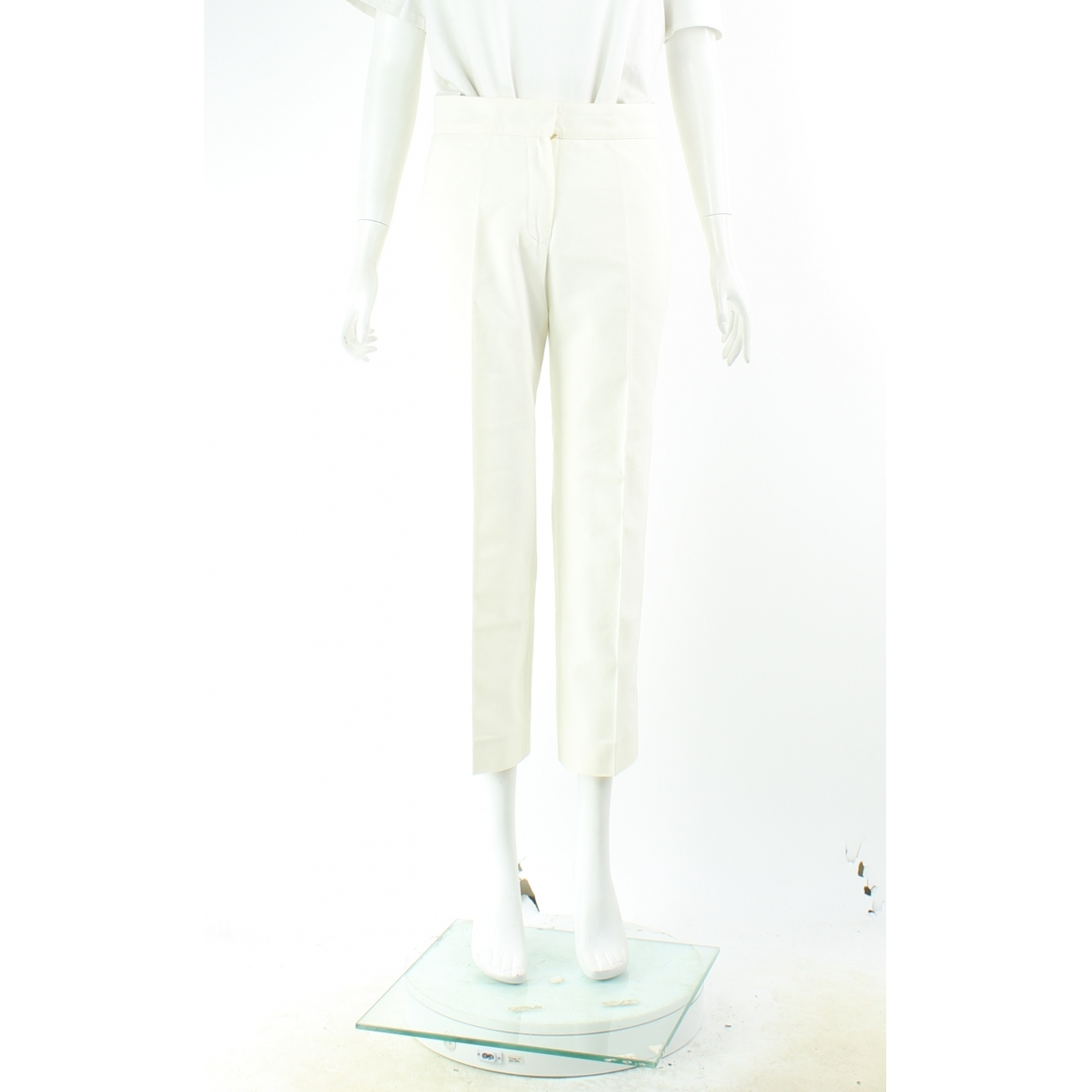 Louis Vuitton \N White Cotton Jeans for Women 36 FR