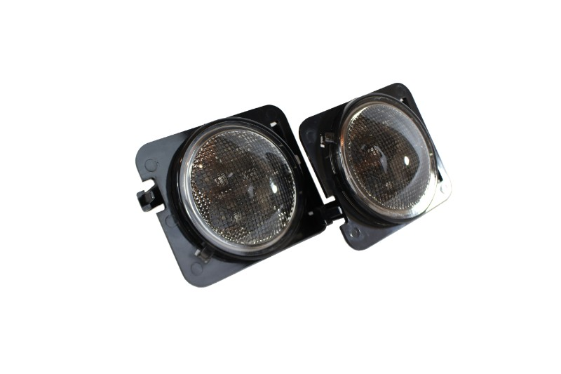 Race Sport Lighting RSJ13SLT Amber LED Front Side Marker with smoked lens 4 Watt 80 Lumens Jeep Wrangler 07-17 Pair