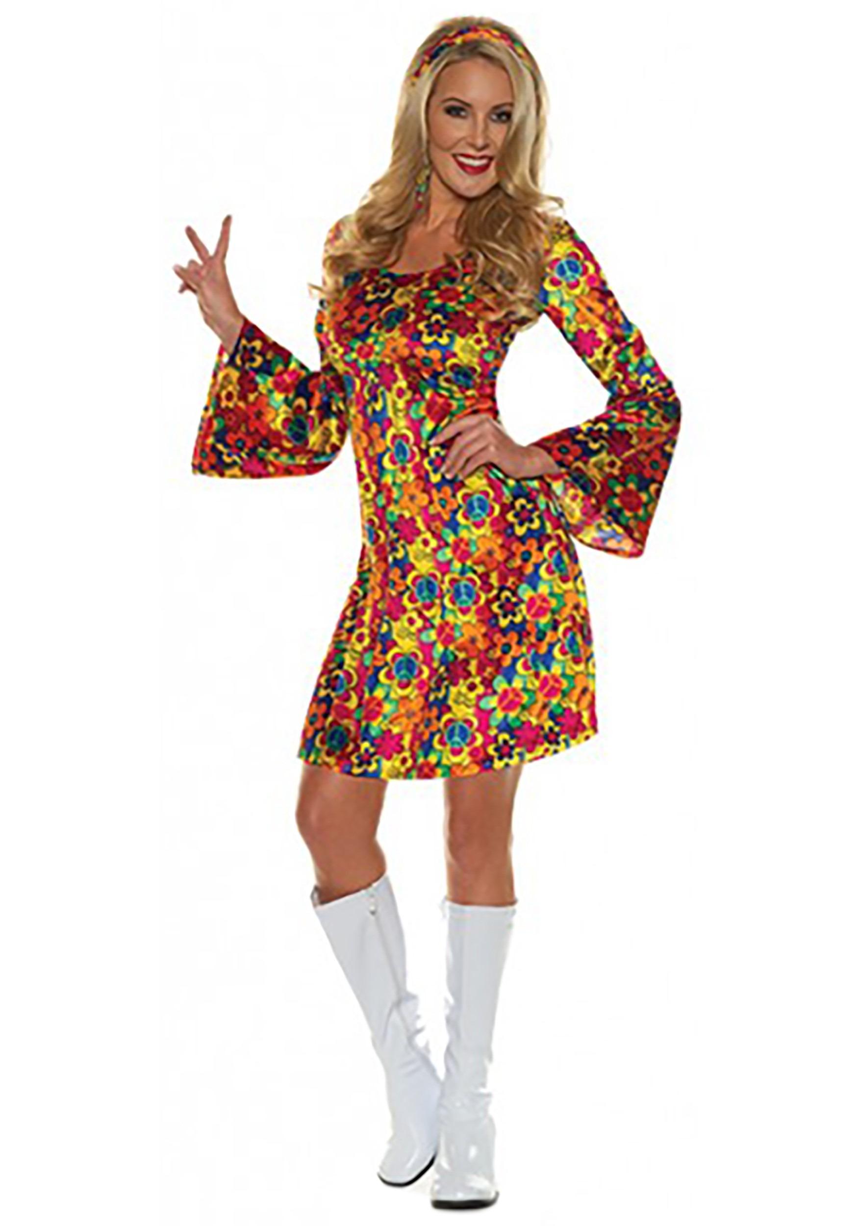 Women's Flower Child Hippie Costume