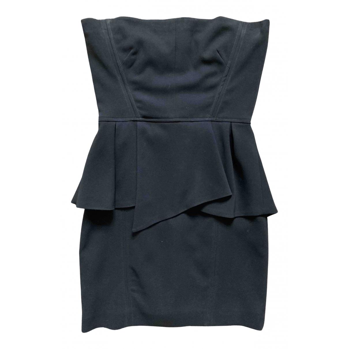 The Kooples - Robe   pour femme en coton - elasthane - noir