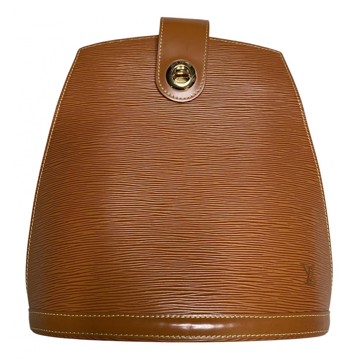 Louis Vuitton - Sac a main Cluny Vintage pour femme en cuir - marron