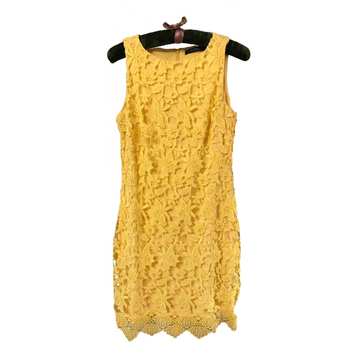 Lauren Ralph Lauren - Robe   pour femme en dentelle - jaune