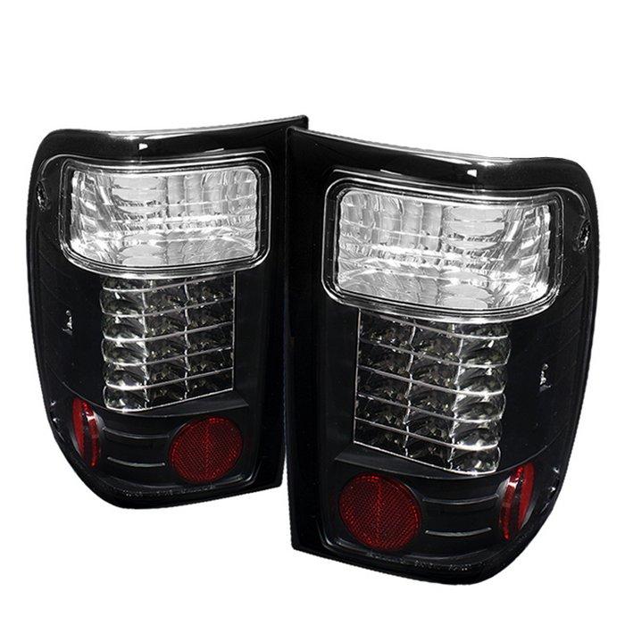 Spyder LED Black Tail Lights Ford Ranger 01-05