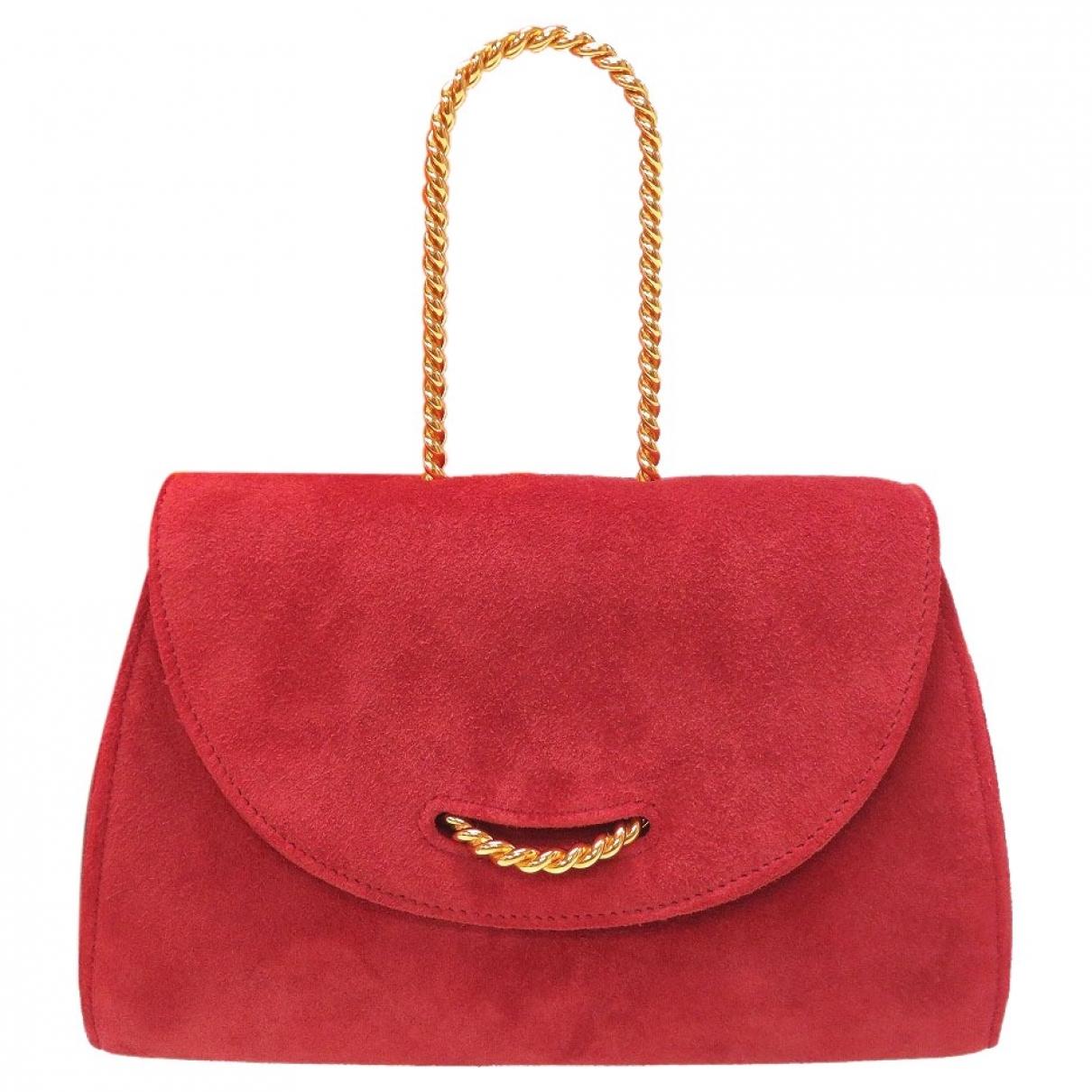 Hermes \N Handtasche in  Rot Veloursleder