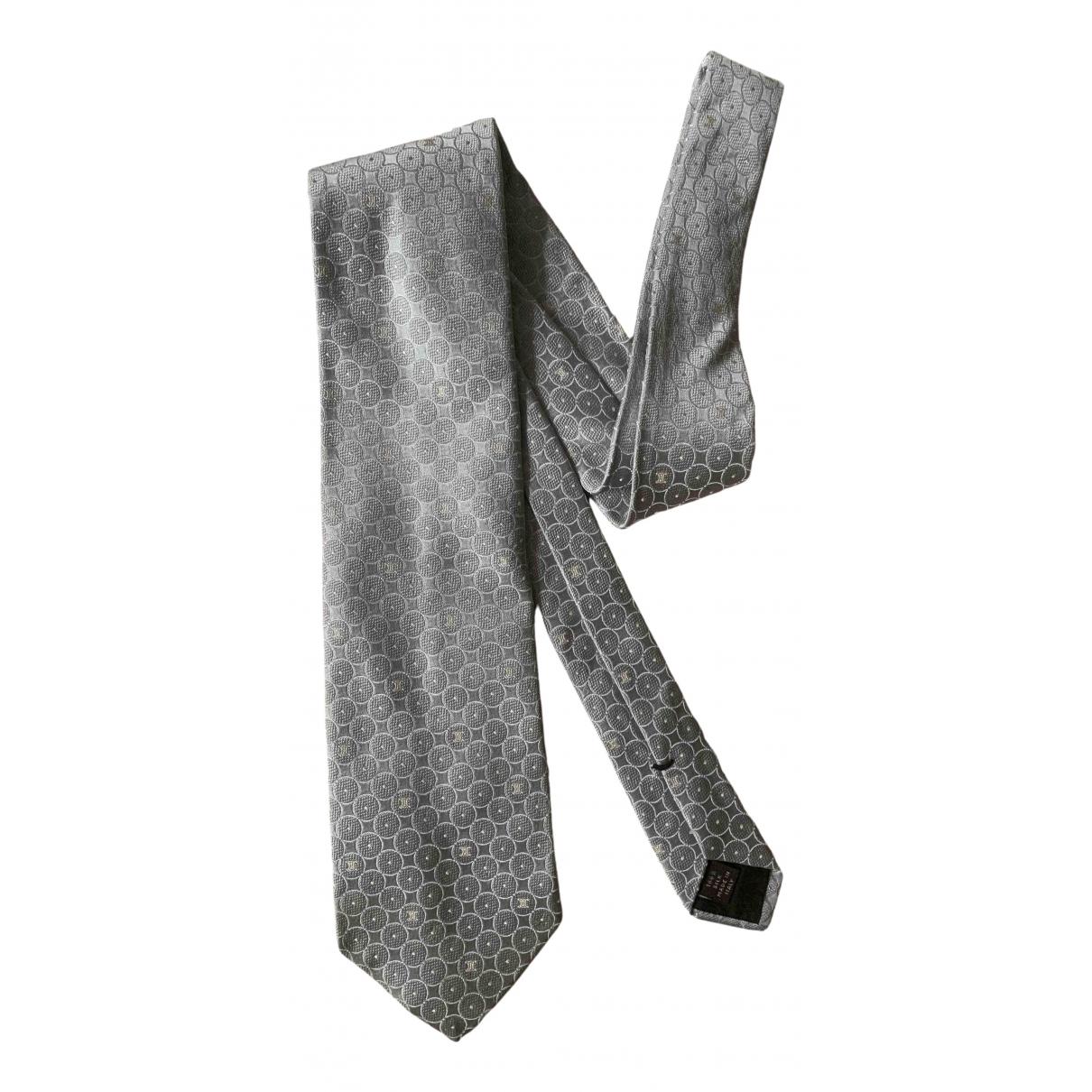 Celine \N Krawatten in  Grau Seide