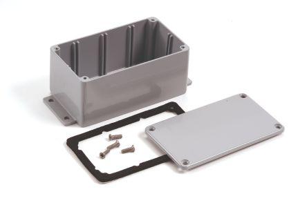 Deltron 484, Grey Die Cast Aluminium Enclosure, IP68, 202 x 120.8 x 106.7mm