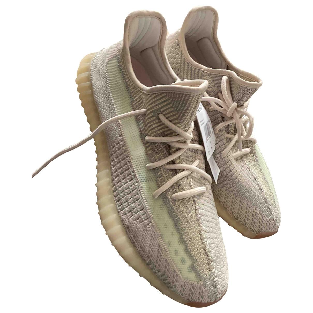 Yeezy X Adidas - Baskets   pour femme en toile - beige
