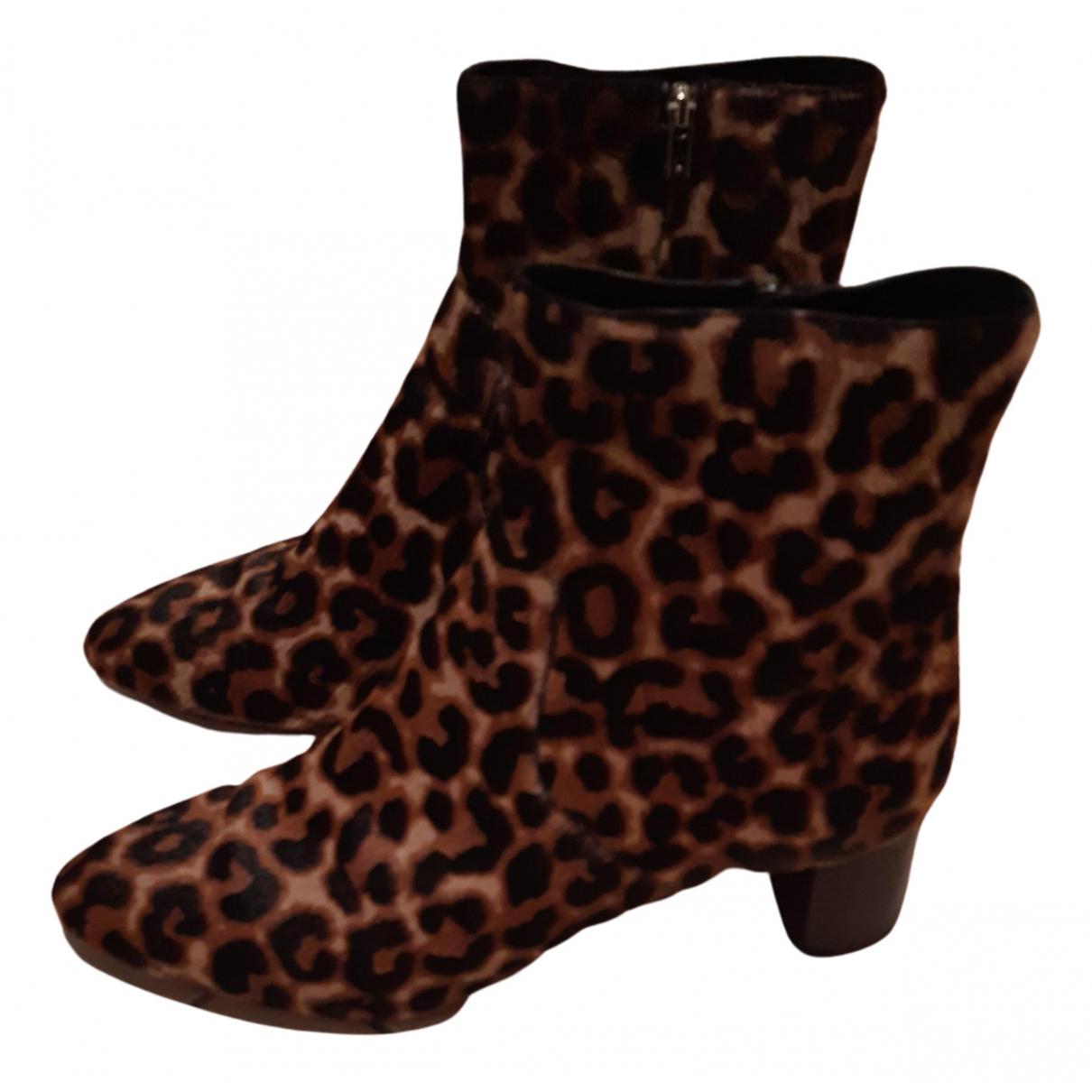 Loeffler Randall - Boots   pour femme en veau facon poulain - marron