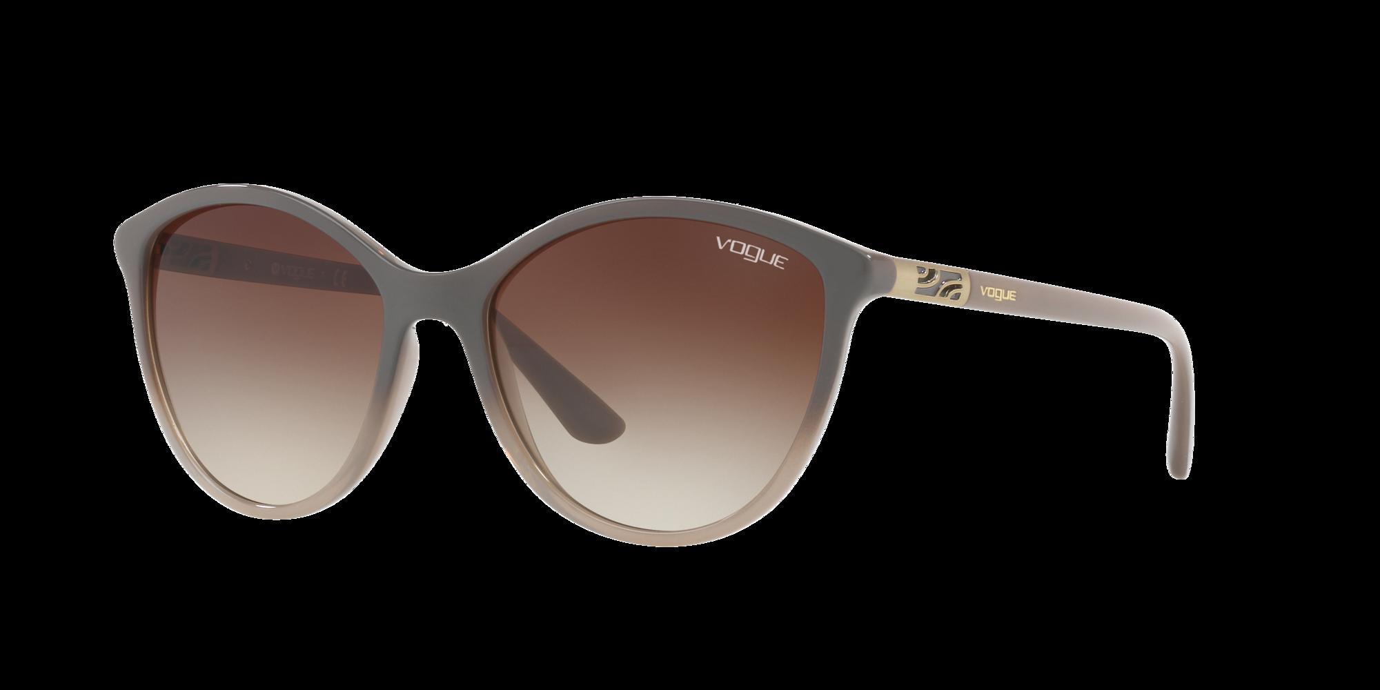 Vogue Eyewear Unisex  VO5165S -  Frame color: Gris, Lens color: Marron, Size 55-17/140