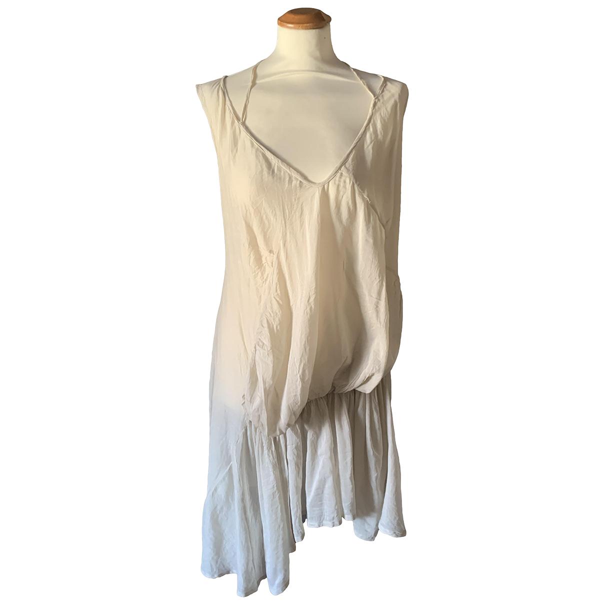 Non Signe / Unsigned \N Kleid in  Beige Baumwolle