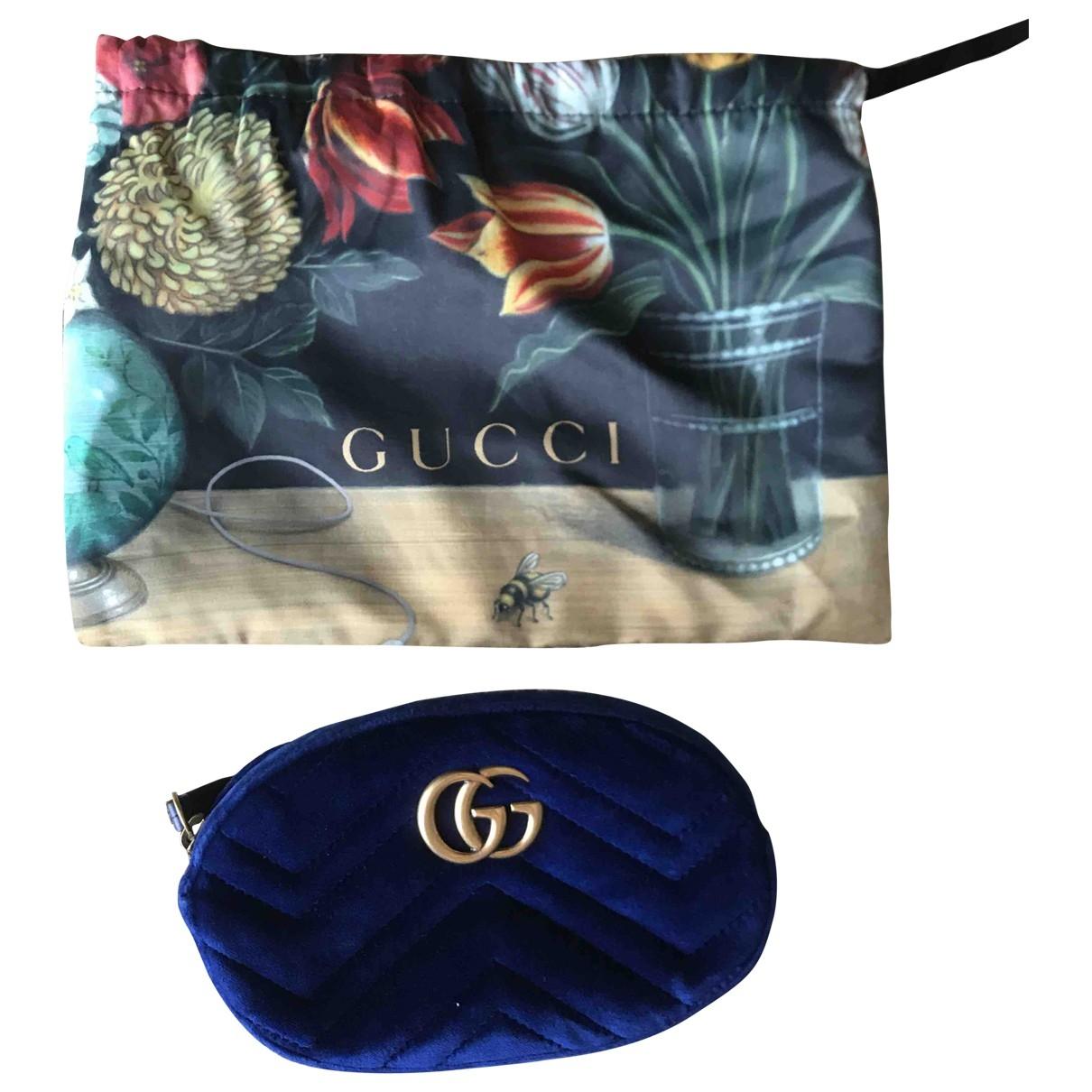 Gucci - Sac   pour femme en velours - bleu