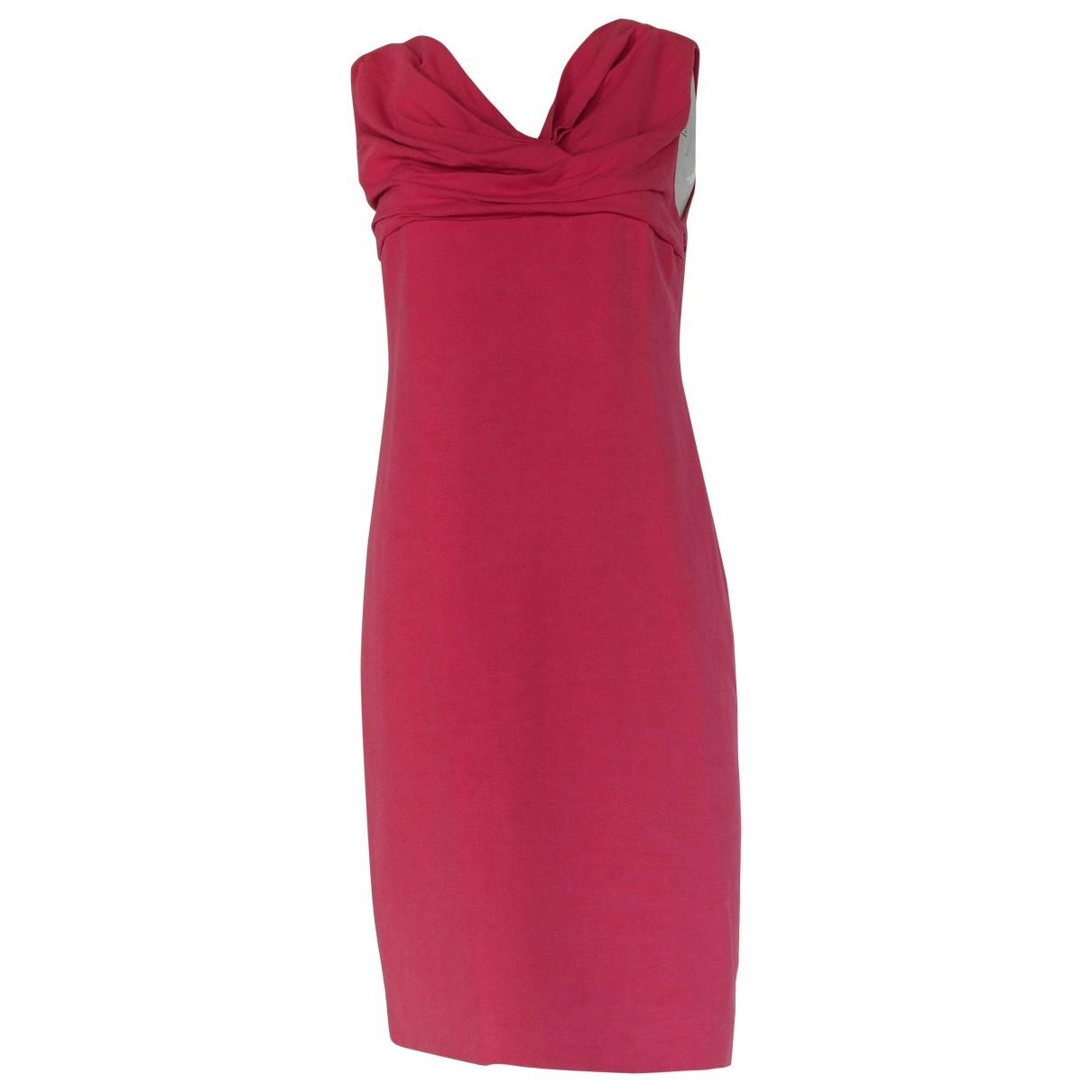 Valentino Garavani - Robe   pour femme en lin - rose