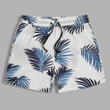 Vielfarbig Taschen  Tropisch  Urlaub Maenner Shorts