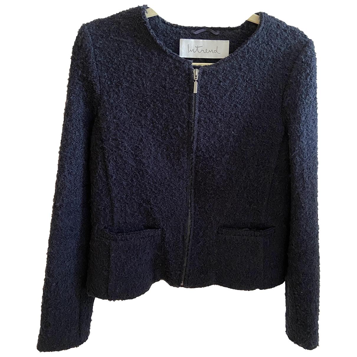 Intrend - Veste   pour femme en laine - bleu