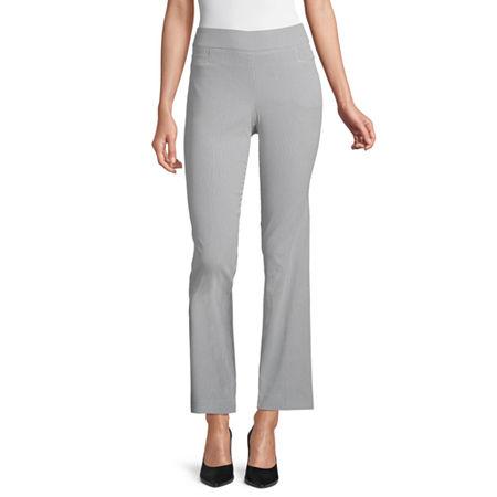 Liz Claiborne Womens Straight Pull-On Pants, 2 , Blue