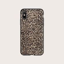 1 pieza funda de iphone con estampado de leopardo
