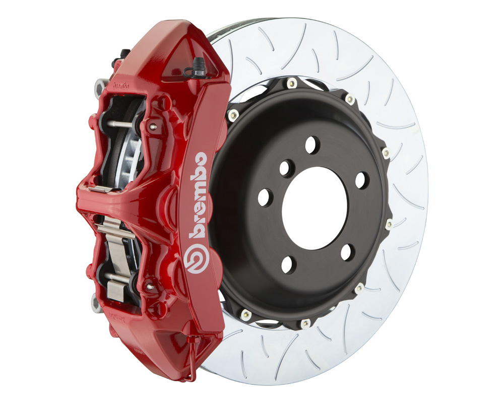 Brembo GT 355x32 2-Piece 6 Piston Red Slotted Type-3 Front Big Brake Kit