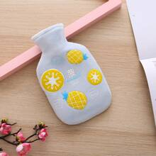 1pc Hot Water Bag With Fruit Pattern Plush Cover