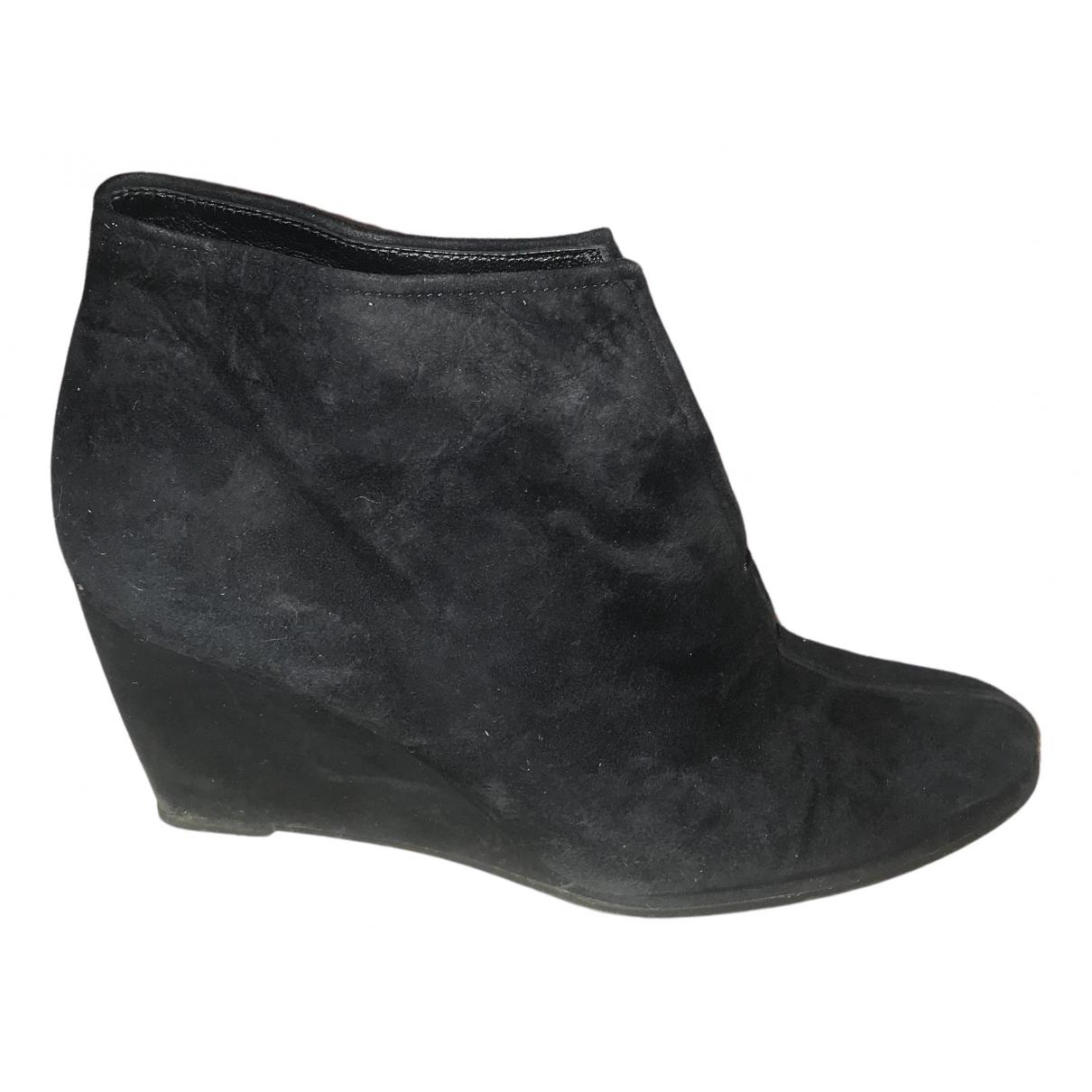 Stuart Weitzman \N Black Suede Ankle boots for Women 5 UK