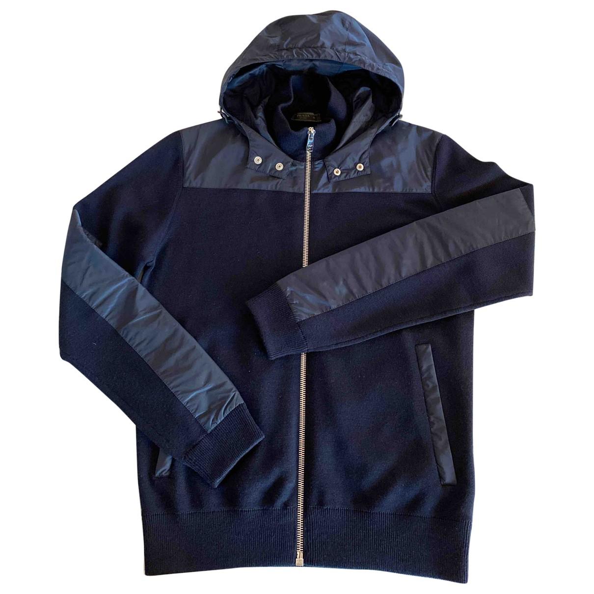 Prada - Vestes.Blousons   pour homme en laine - marine