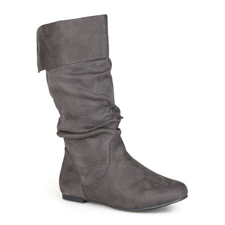 Journee Collection Womens Shelley Slouch Boots, 7 Medium, Gray
