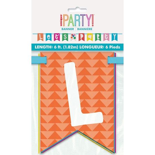 Let's Party Colorful Flag Banner, 6Ft By Unique | Michaels®