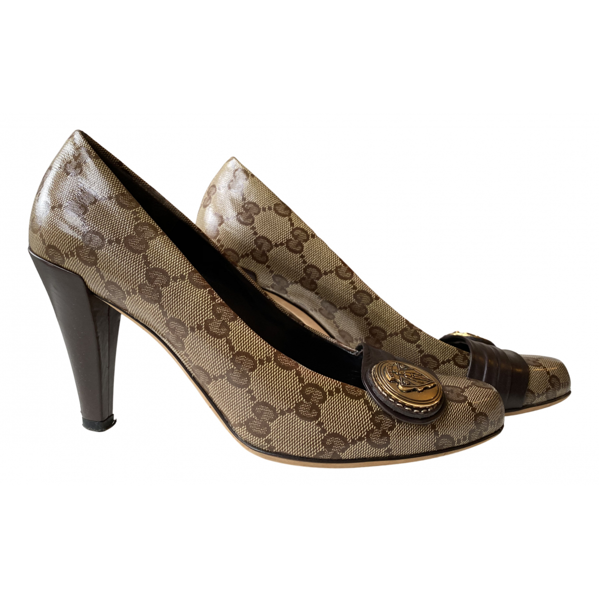 Gucci N Beige Cloth Heels for Women 37.5 EU