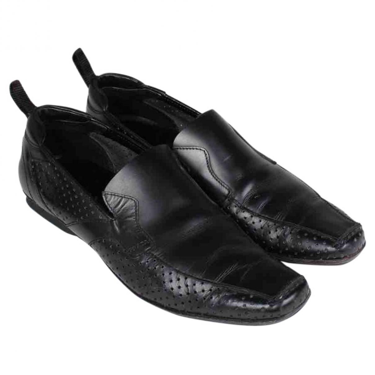Prada \N Black Leather Flats for Men 8 UK