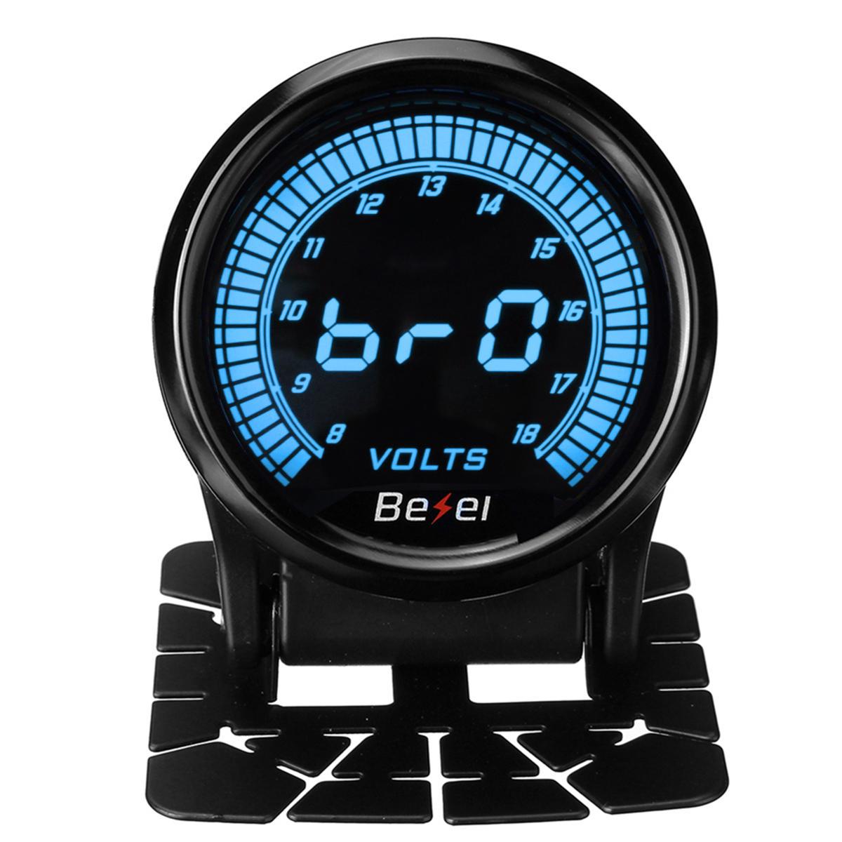 2Inch 8-18V Car Digital Voltmeter Volt Voltage Gauge Meter LED Electronic