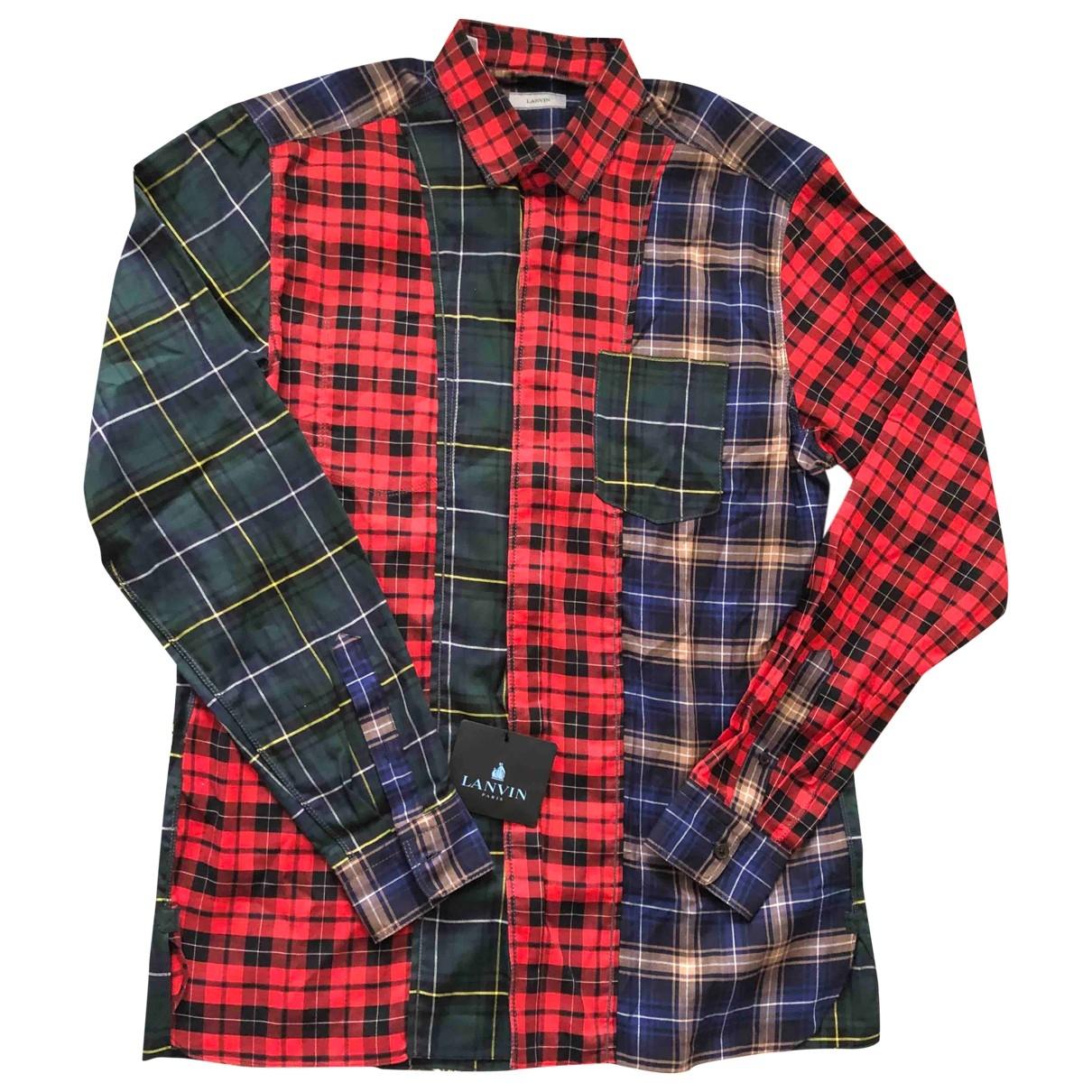 Lanvin \N Hemden in  Rot Baumwolle