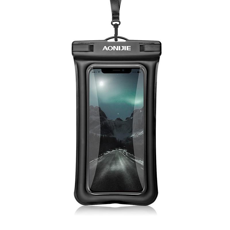 AONIJIE E4104 Touch Screen Waterproof Phone Bag TPU 30m Depth Underwater Phone Dry Bag For iphone Xs Mas/Xs/8P, Huawei P
