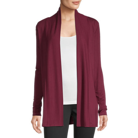 Liz Claiborne Womens Long Sleeve Open Front Cardigan, X-large , Red