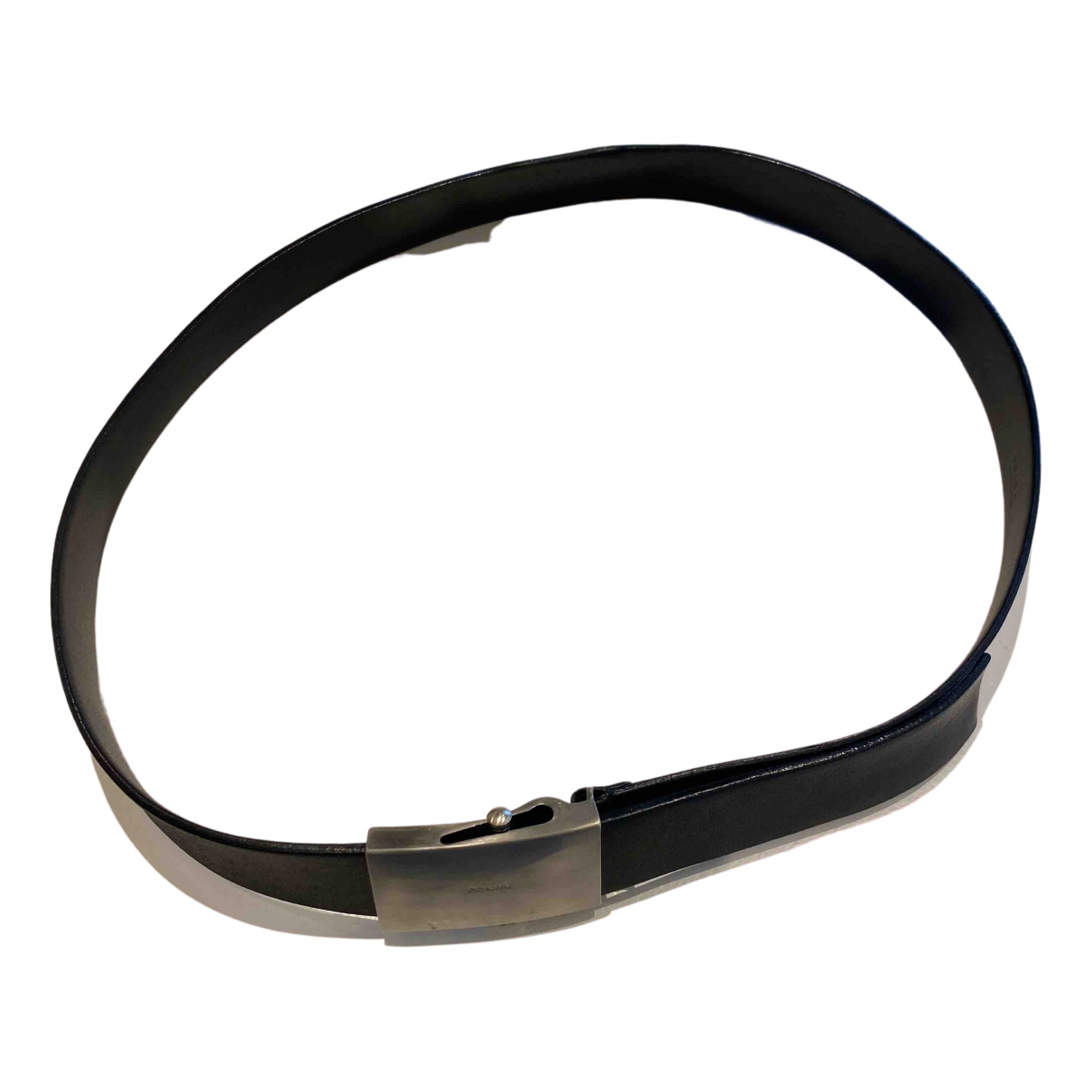 Prada N Black Leather belt for Men 100 cm