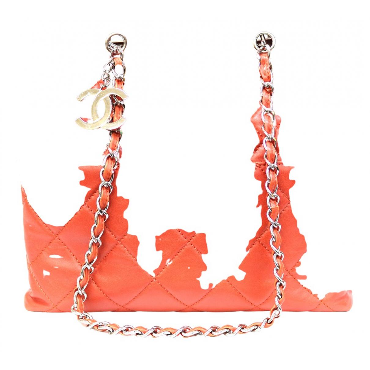 Chanel \N Handtasche in  Orange Leder