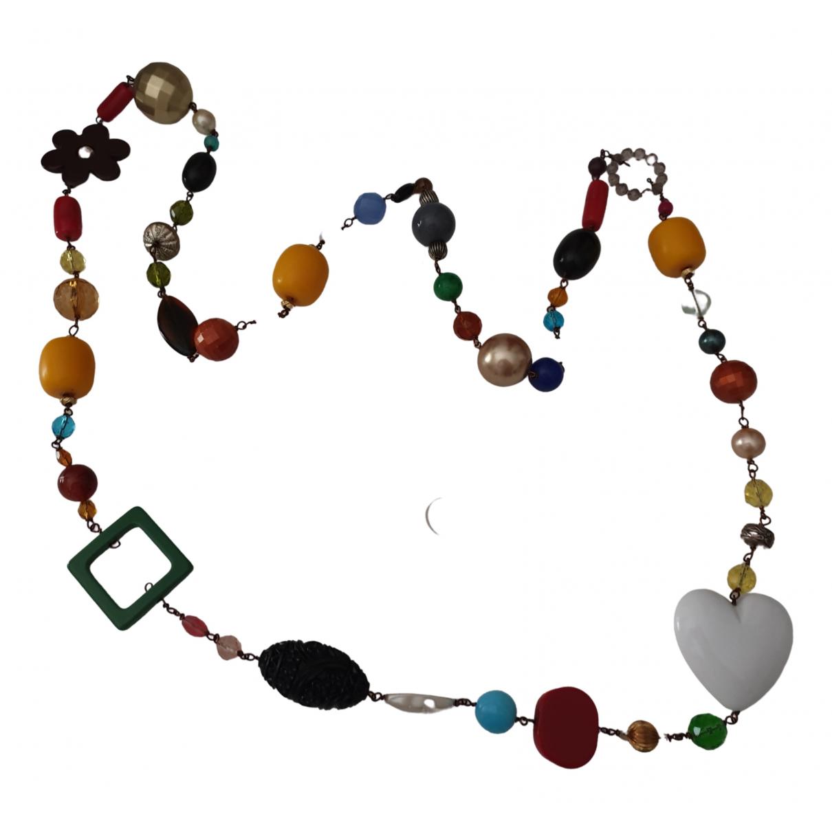 - Sautoir Motifs Ethniques pour femme en metal - multicolore