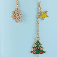 Ohrringe mit Weihnachtsbaum Anhaenger