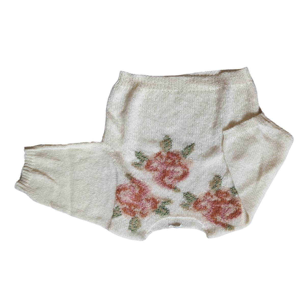 Mes Demoiselles ... N Ecru Wool Knitwear for Women 36 FR