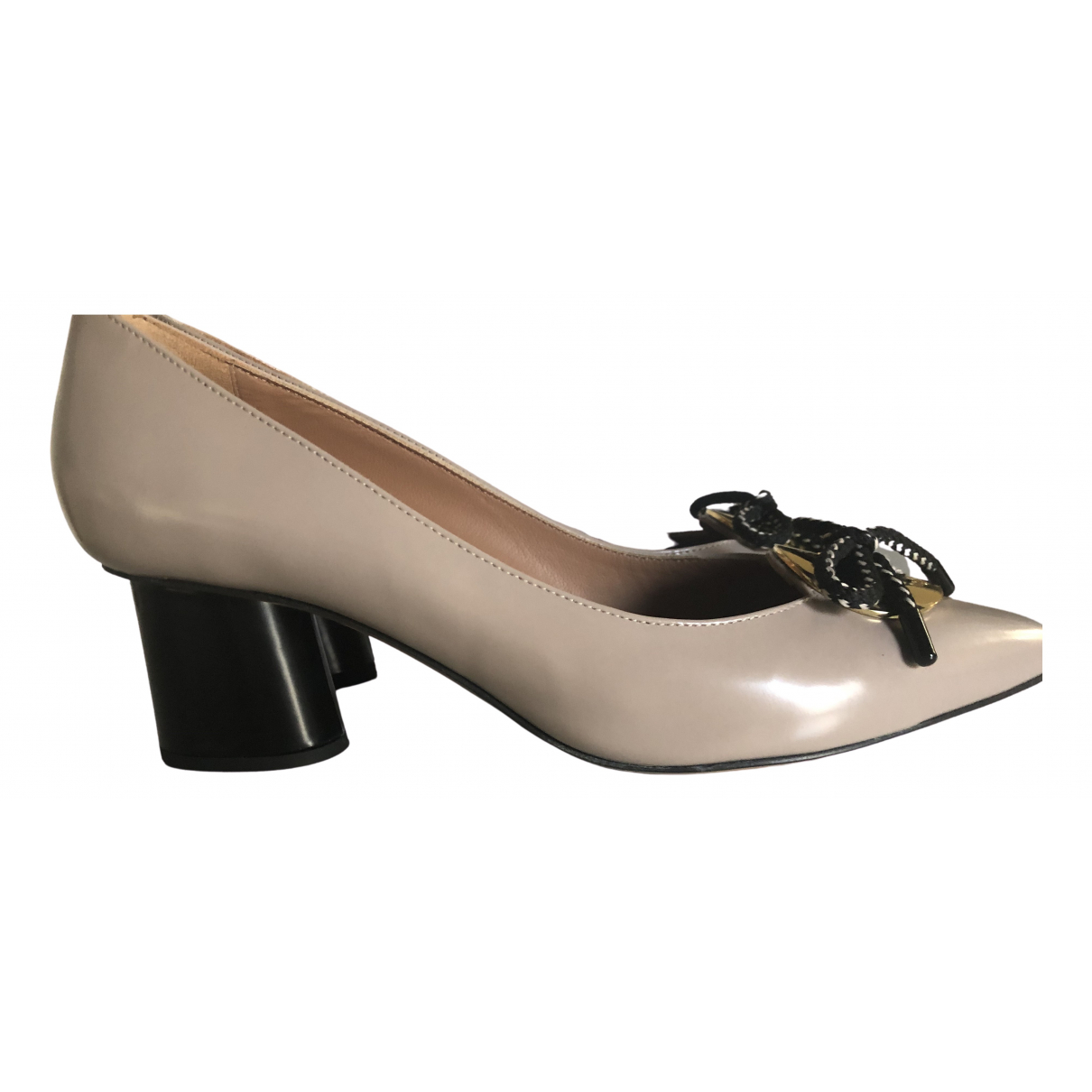 Emporio Armani - Escarpins   pour femme en cuir - beige