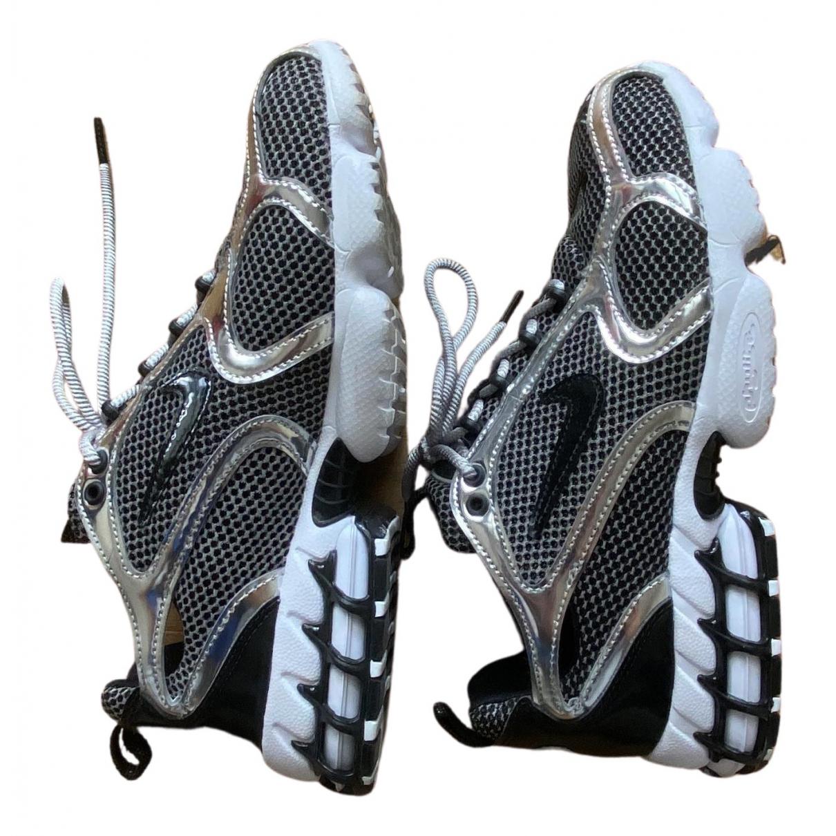 Nike X Stussy \N Sneakers in  Silber Leinen