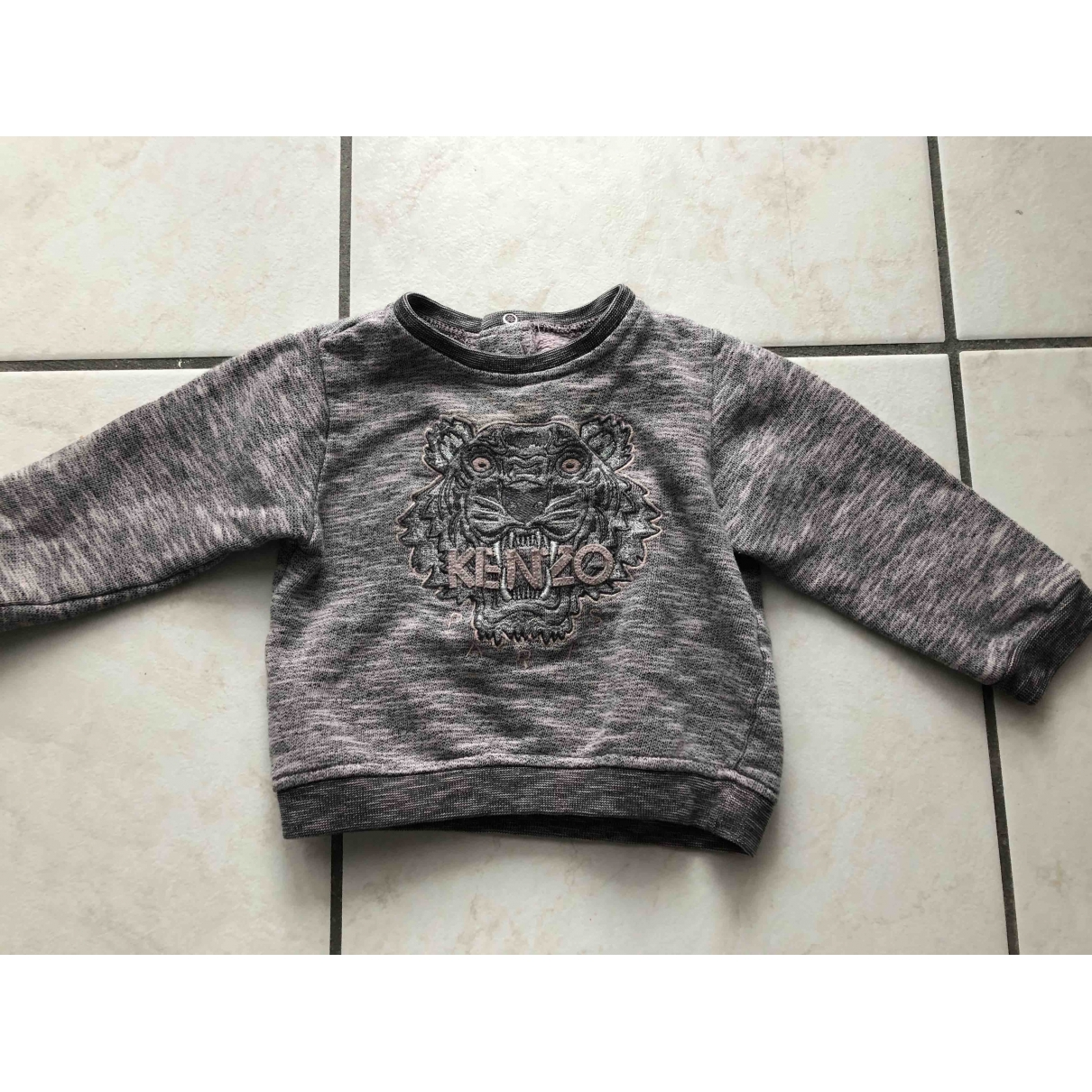 Kenzo \N Grey Cotton Knitwear for Kids 18 months - up to 81cm FR