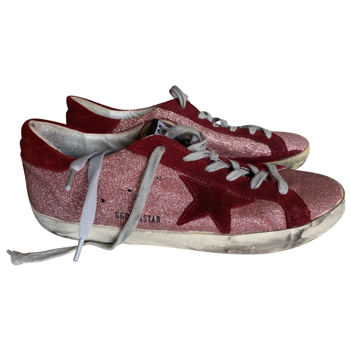Golden Goose - Baskets Superstar pour femme en cuir - rouge